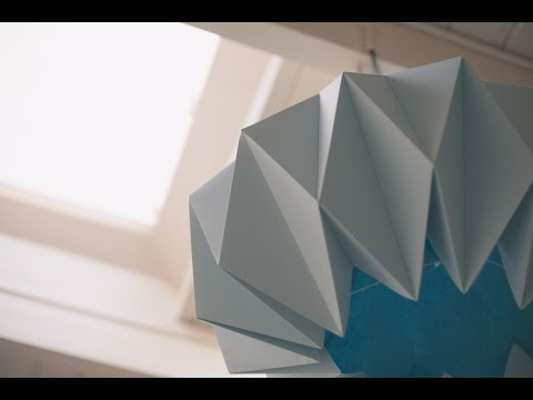 Diy origami lamp shades youtube diy origami lamp shades aloadofball Image collections