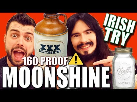 Irish People Try 'ILLEGAL' American Moonshine!! - (160% Proof)