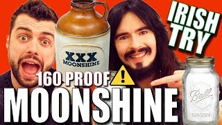 Irish People Try 'ILLEGAL' American Moonshine!! - (160% Proof) thumbnail