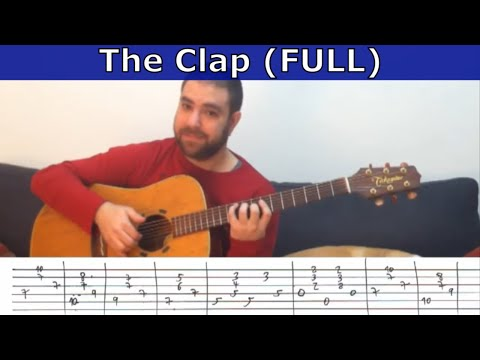 Tutorial: The Clap (Yes / S. Howe) - Guitar Lesson w/ TAB