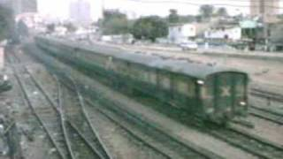 Pakistan Railways fast express trains connecting Karachi CIty with upcountry destinations.