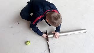 Как это работает?  Пороховая пушка для теннисных мячей