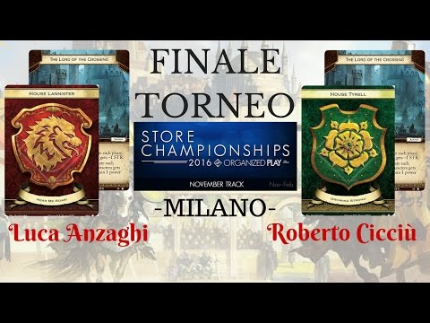 Game of Thrones LCG - Store Championship Excalibur Games Milano 18 Febbraio 2017