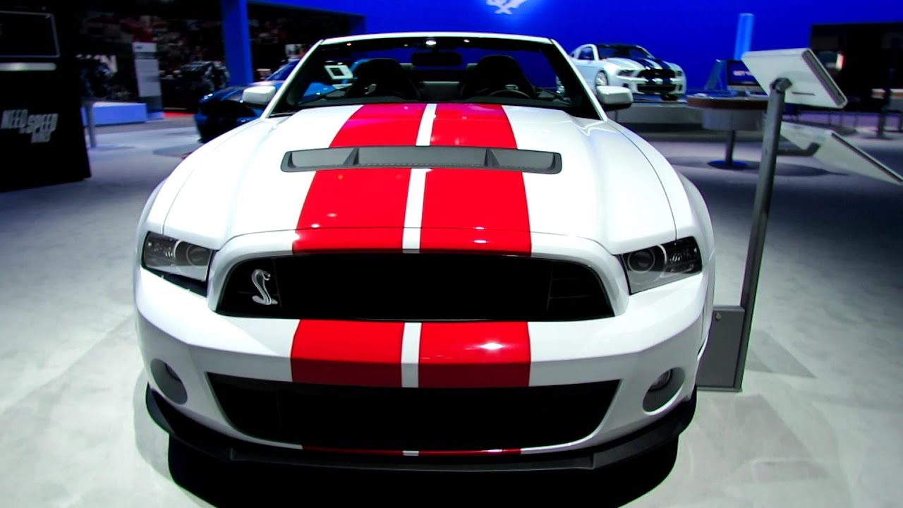 2014 ford mustang shelby gt500 convertible exterior and interior walkaround 2013 la auto show youtube