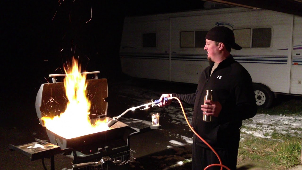 Download How to start a charcoal grill with a weed burner