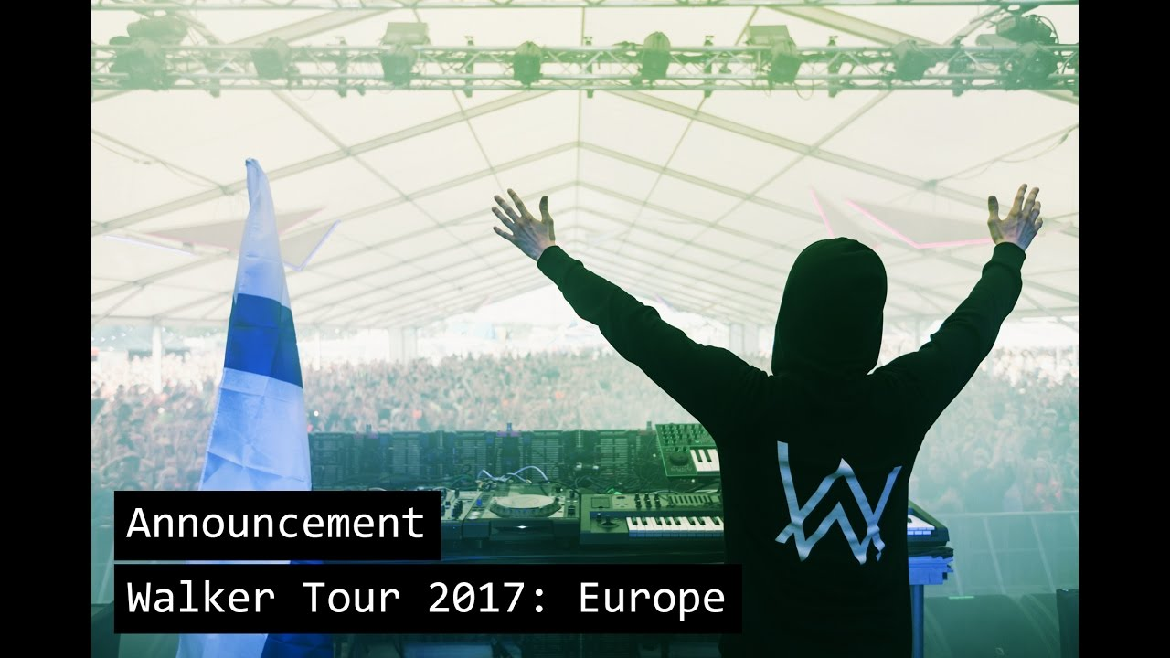 Alan Walker - Walker Tour 2017: Europe (Trailer)