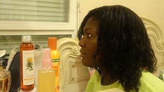Application de la lotion CGA Activateur pousse de cheveux tous types cheveux