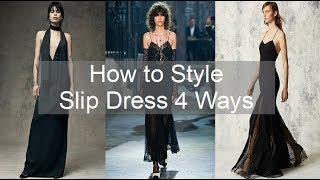 (CAPSULE SERIES) How to Style - SLIP DRESS 4 WAYS | Zodie Styles