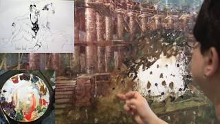 Бесплатный видео урок Елены Ильичевой - Двухфигурная композиция в пространстве архитектурной среды