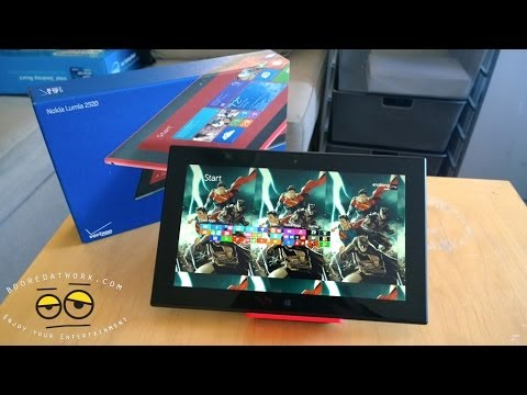 Nokia Lumia 2520 Tablet Unboxing (Verizon Wireless)