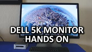 Dell UP2715K 5K IPS Monitor Hands On - CES 2015