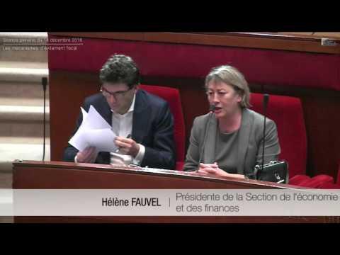 Les mécanismes d'évitement fiscal - Séance du 13 décembre 2016 - cese