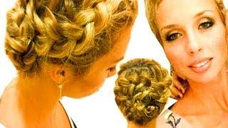 Коса Цветок. Плетение косы вокруг головы.(Привет всем! Присоединятесь ко мне на: Фэйсбук:http://www.facebook.com/pages/BeautifulBraids/239275326133641 ..., 2011-11-12T13:23:51.000Z)
