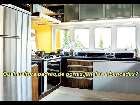 Qual a altura padr o de portas janelas e bancadas youtube for O que e porta balcao