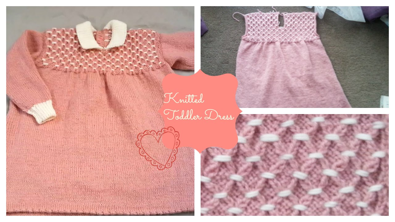 Knitted Toddler Dress Part 1 | The Back - YouTube