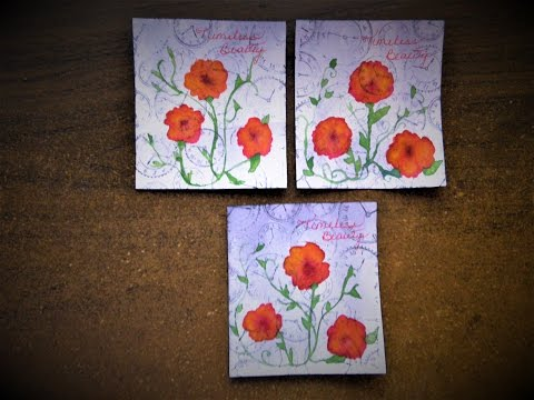 Watercolor Art Cards:  Timeless Beauty painted with a Ruling Pen?!