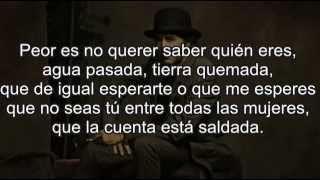 Joaquín Sabina - Agua Pasada con letra (lyric video)