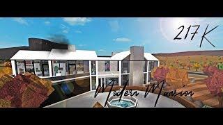 Roblox Bloxburg | Modern mansion tour! | 217k