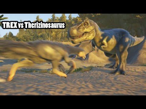 T Rex vs Therizinosaurus