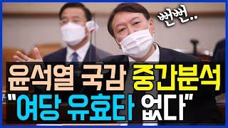 10.22 윤석열 대검 국감 중간분석.. 여당 유효타 …