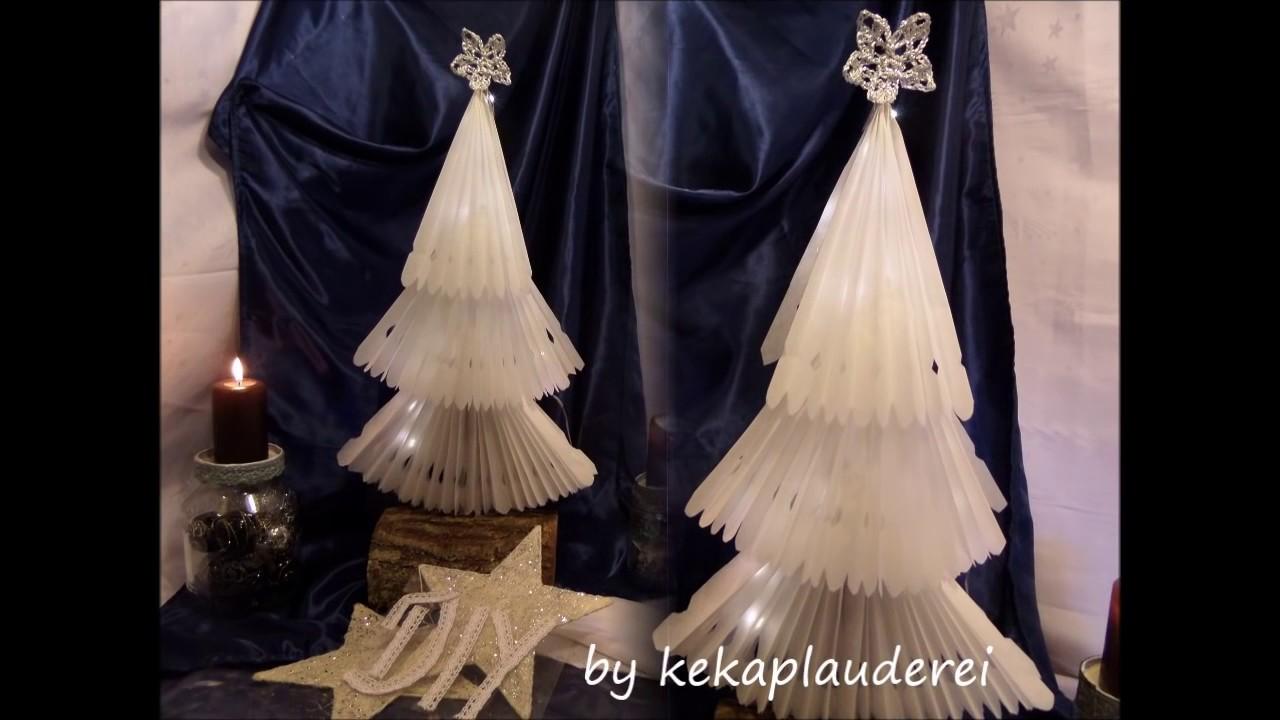 Weihnachtsbaum aus buchseiten basteln