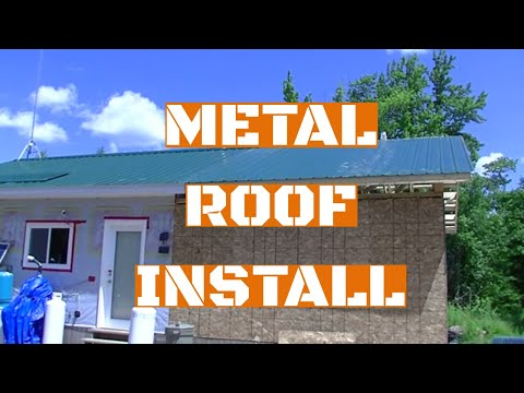 16 X 24 OFF GRID CABIN EXTENSION   METAL ROOFING