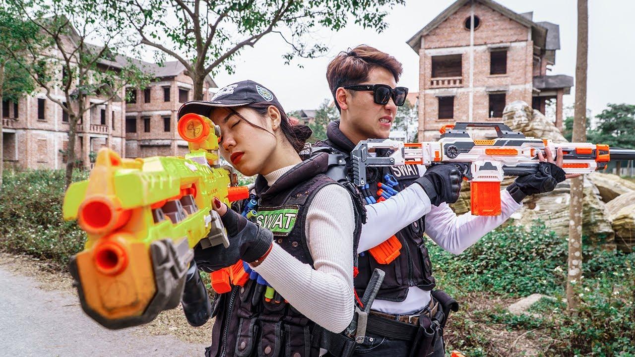 LTT Game Nerf War : Warriors SEAL X Nerf Guns Fight Rocket Crazy Destroy City Criminals