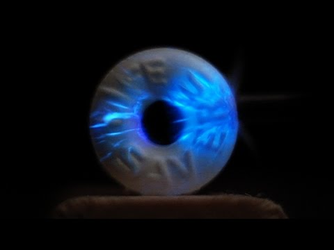 LIFE SAVER LIGHTNING (Triboluminescence Slow Motion) - Smarter Every Day