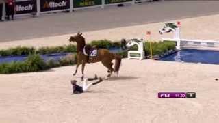 Jeux Equestres Mondiaux : chute de Pénélope Leprévost, CSO du 6 septembre