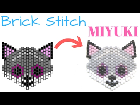 How to Make a Fox with Brick Stitch technique