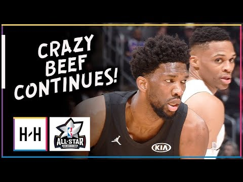 Russell Westbrook vs Joel Embiid CRAZY Beef Duel Highlights at 2018 All Star Game!
