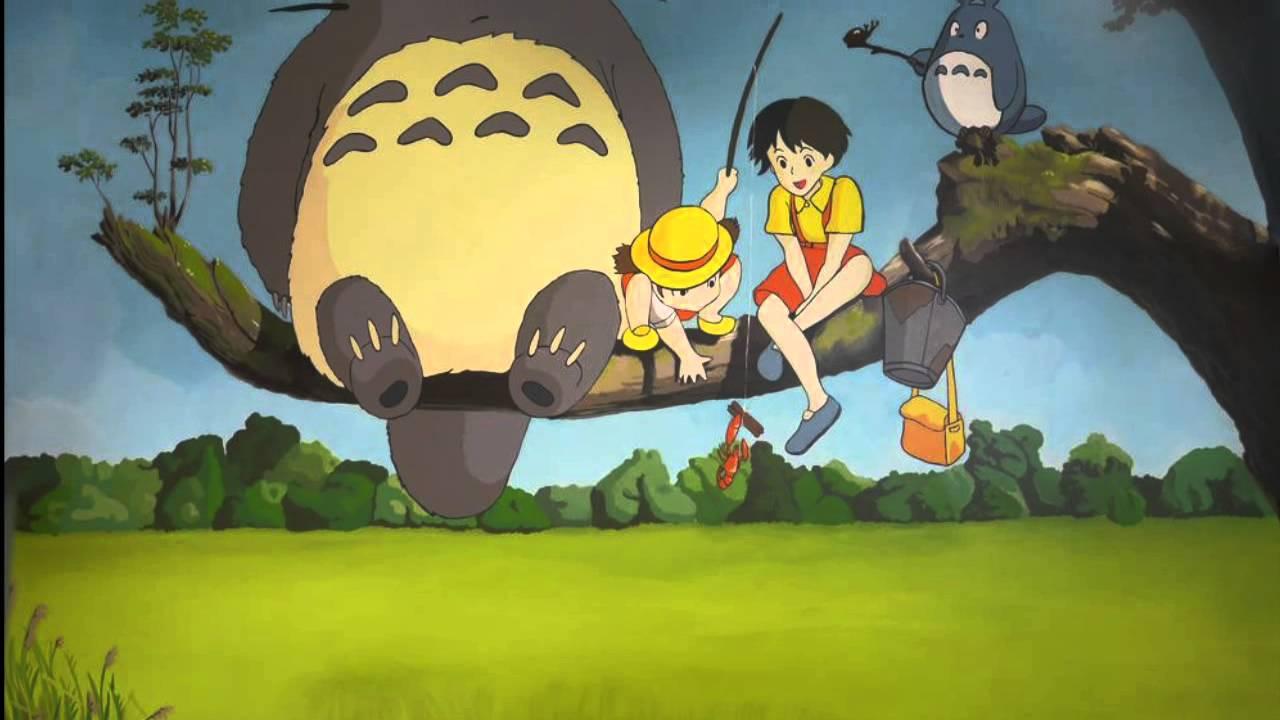Office Mural | The ART of WALL paint Studio Ghibli - YouTube