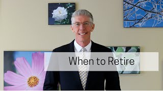 When to Retire  //Mark's Minute on Money//