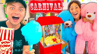 I BUILT A REAL CARNIVAL IN MY BEDROOM!!