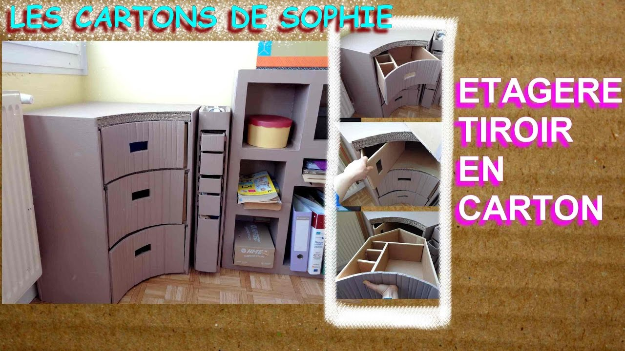 les cartons de sophie comment integrer des tiroirs dans un meuble d 39 angle youtube. Black Bedroom Furniture Sets. Home Design Ideas