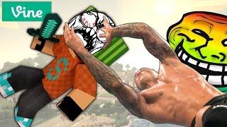 TROLLING SIMON - RANDY ORTON WATCH OUT WATCH OUT RKO (Minecraft Vine Meme)