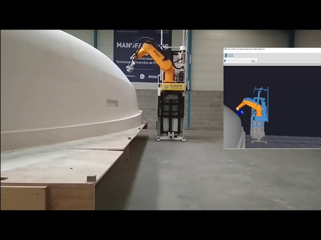 boat sanding with mobile robots