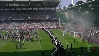 Rapid-Fans stürmen Spielfeld // SPIELABBRUCH // 297. Wiener Derby // 22.05.2011 ORF HD