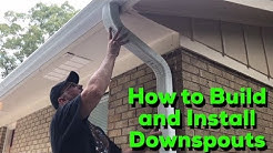 How to Build and Install Downspouts - DIY Easy Step by Step Process