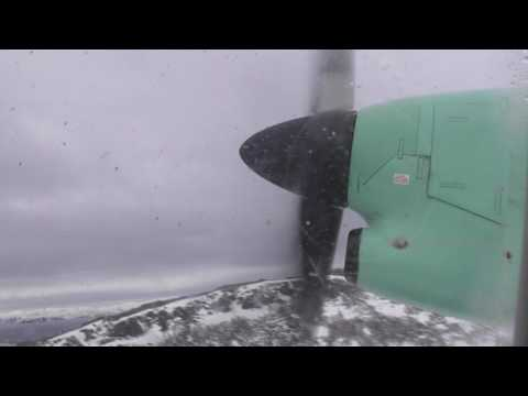 Widerøe Dash 8 -100, WF0932 - Hammerfest - Mehamn Take off & Landing [HD]