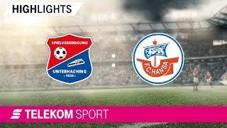 SpVgg Unterhaching - FC Hansa Rostock | Spieltag 4, 18/19 | Telekom Sport
