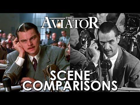 Leonardo DiCaprio and Howard Hughes | The Aviator (2004) - scene comparisons
