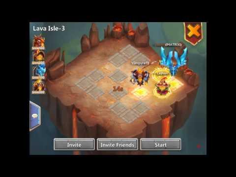 Castle Clash - Lava Isle 3 Setup, 2 Ghouls (106/107 Wins, 99% Success Rate)