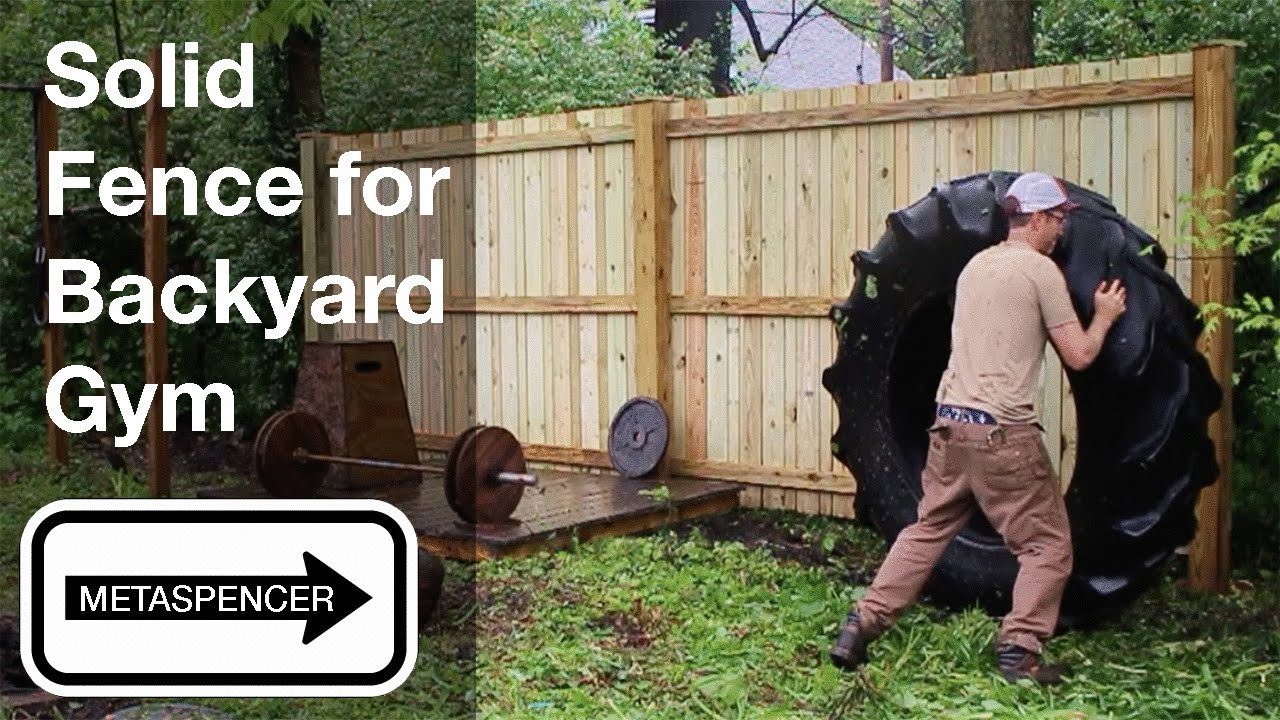 solid fence for backyard gym youtube