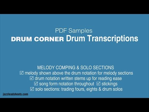 Drum Corner | jazzleadsheets com | jazzleadsheets com by