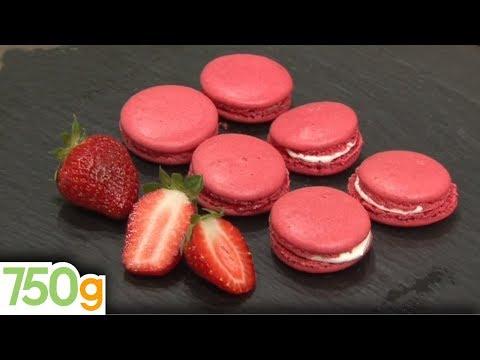 recette-de-macarons-à-la-fraise---750g