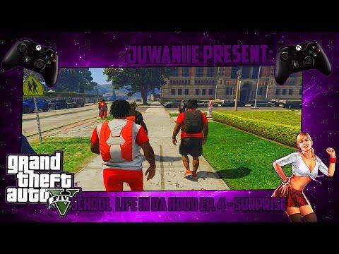 GTA 5 School Life In Da Hood Ep. 4 - Surprise (GTA 5 PC RP)