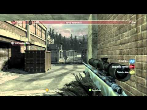 CoD4 - Team Deathmatch on Countdown (12-1) [M403A Sniper Rifle + Hacker...]