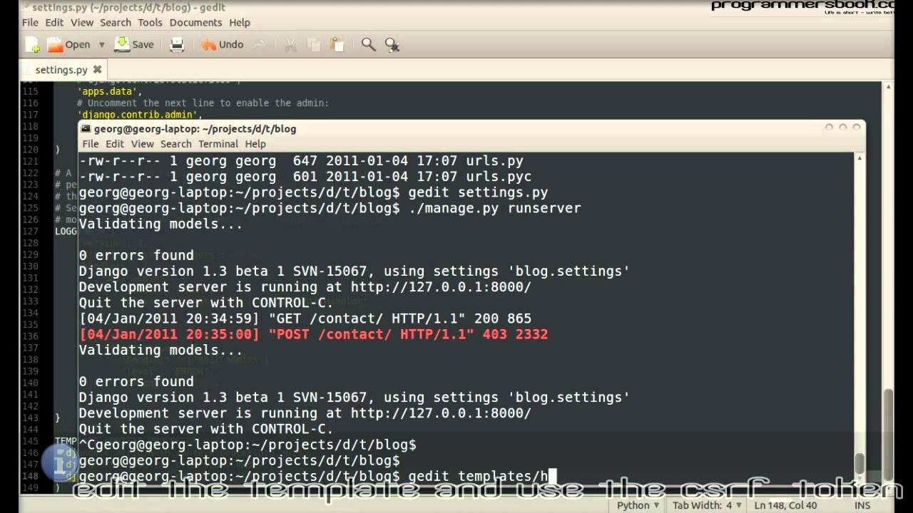 CSRF in Forms - Full Web Framework Python Django Tutorial XVI Blog