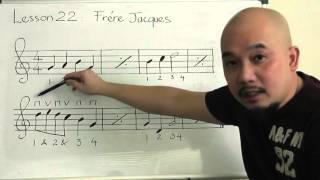 Tự học guitar căn bản bài 22( Frere Jacques)